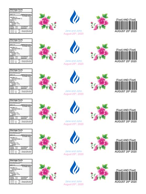 printable water bottle label template free water bottle label template make personalized bottle labels