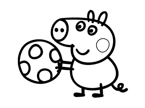 colouring pictures of peppa pig and george george pig coloring pages for kids