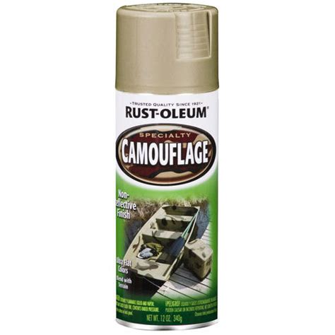 rust oleum 174 specialty sand camouflage spray paint 12 oz at menards 174