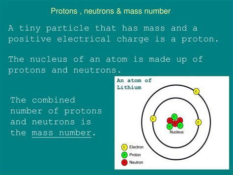 Protons A Mass Of by Protons And Neutrons Charges Related Keywords Protons