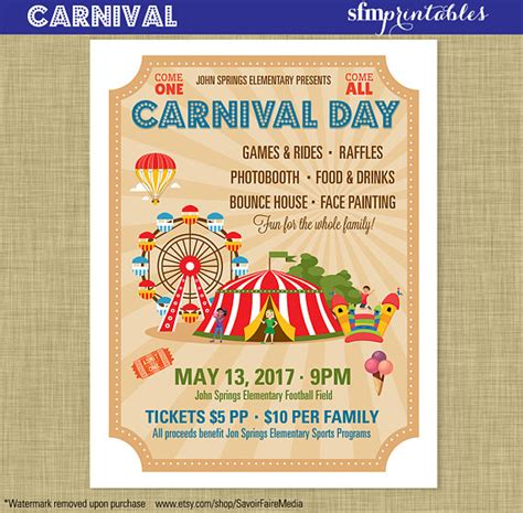 community event flyer template carnival flyer invitation postcard poster template church