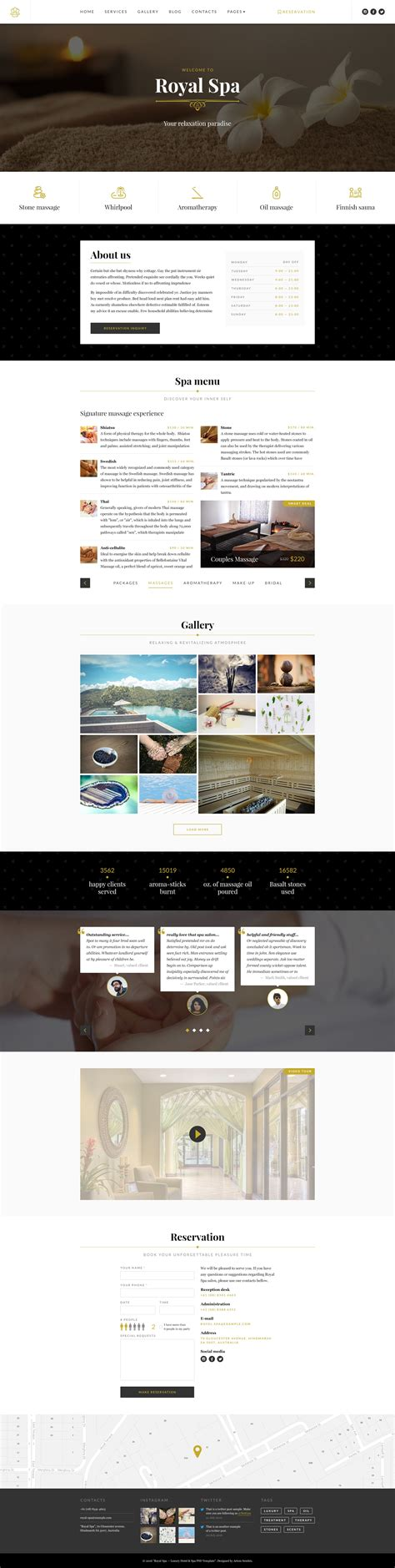 website template luxury hotels and carousels on pinterest royal spa luxury hotel spa psd template by netgon