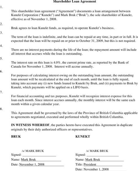 simple shareholder agreement template loan agreement for free formtemplate