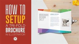 how to layout a brochure in illustrator trifold brochure for print in illustrator illustrator