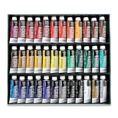 liquitex basics acrylic paint assorted 36 color set 22ml squeeze ebay