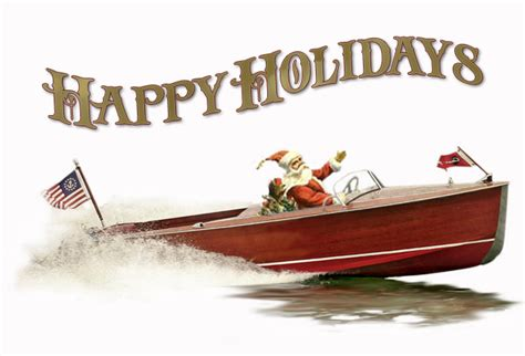 wooden boat christmas cards