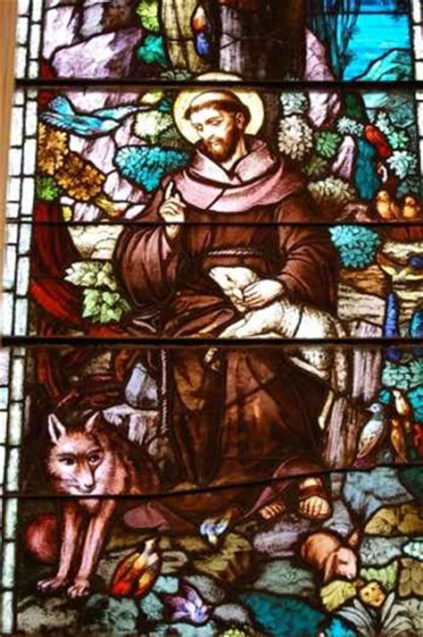 stained glass windows st francis of assisi new orleans la antique german stained glass window of st francis of assisi