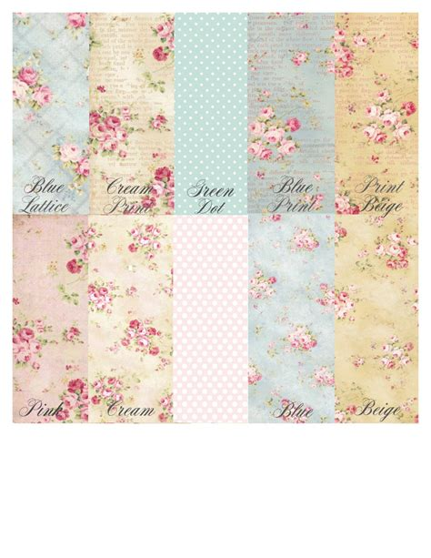 shabby chic sheets printed shabby chic edible wafer paper sheets mix and match