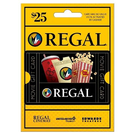 regal cinemas gift card 25 target - Regal Theatre Gift Cards