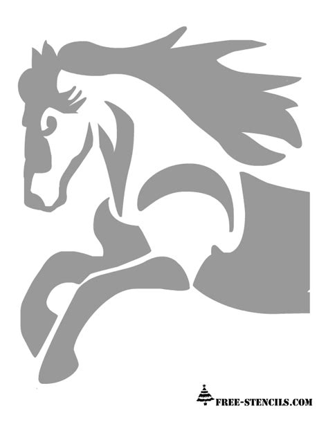 printable stencils of horses free printable horse stencil stencils pinterest