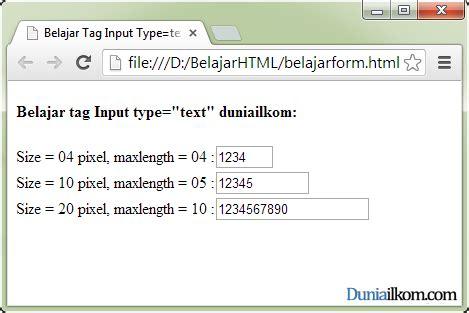 html pattern maxlength tutorial pembuatan form html contoh cara penggunaan tag