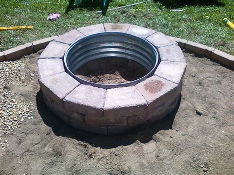 Diy Brick Firepit Brick Pit Plans Do It Yourself Home Fireplaces Firepits How To Diy Brick Firepit