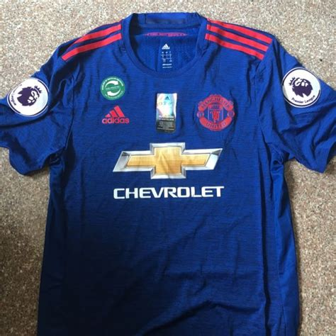 Jersey Manchester United Navy 201516 brand new manchester united away jersey with premier league badge sports on carousell