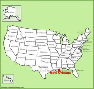 new orleans location on the u s map
