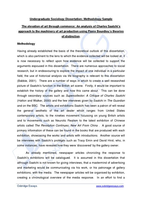 writing dissertation methodology a dissertation methodology