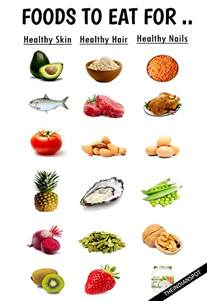 foods to eat for healthy skin hair and nails