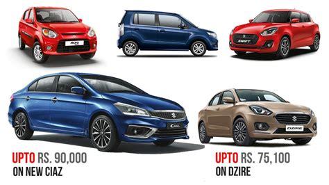 time  buy  maruti suzuki car discount upto rs  details
