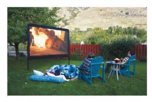 backyard projector outdoor theatre screen portable projection backyard