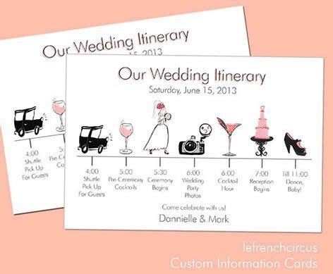relationship timeline wedding invitations wedding timeline itinerary information card by