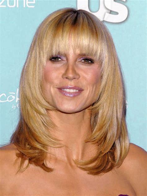 medium length layered around ears hairstyles cortes de pelo con flequillo 1001 consejos