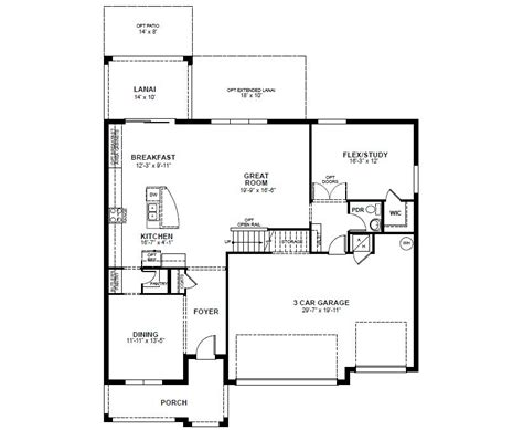 beazer single story floor plans gurus floor