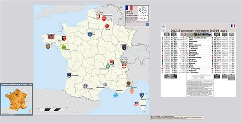 france ligue 1 france ligue 1 2013 14 location map with 2012 13