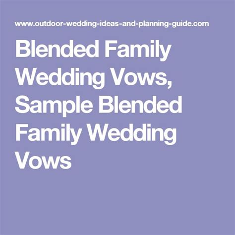 Wedding Vows For Blended Families by Blended Family Wedding Vows Sle Blended Family Wedding