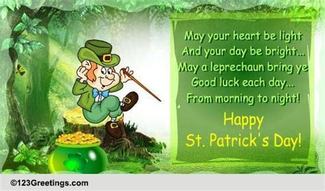 A St. Pat's Day Leprechaun For Luck  Free Luck O' the