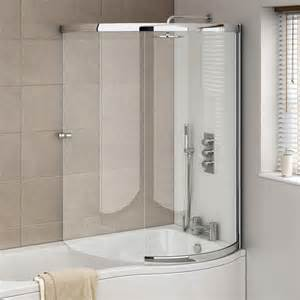 cruze p shaped sliding bath screen available at coram frameless sliding bath screen