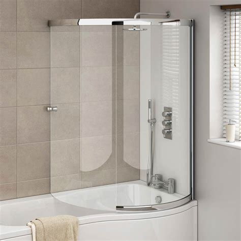 Modern Bathroom Suites Uk - cruze p shaped sliding bath screen available at victorian plumbing