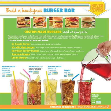 backyard burger bar more summer more savings with aldi build a backyard burger