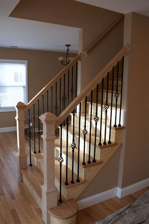 wooden banisters for stairs 17 best ideas about wood stair railings on pinterest