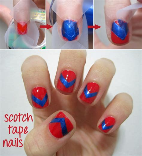 easy nail art designs with tape nail designs done perfect learn how musely