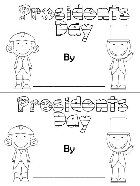 presidents day coloring pages preschool president s day booklet tpt gotta do this at school