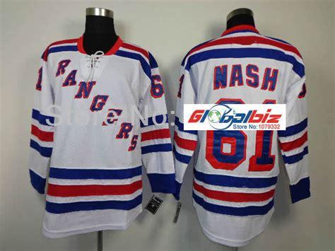 aliexpress nhl jerseys free shipping new york rangers jersey 61 rick nash white
