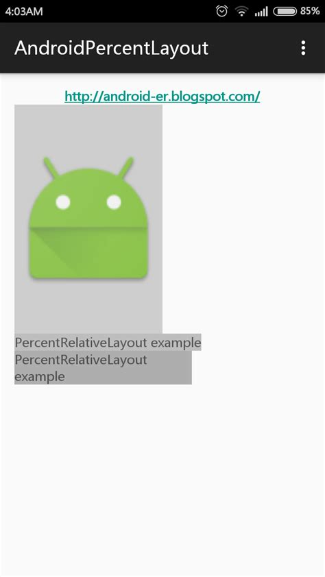android layout height percentage of parent android er try percentrelativelayout and