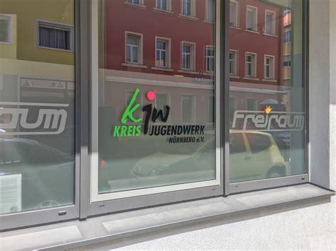 Fenster Sichtschutz Mit Logo by Glasfolierung Kreisjugendwerk Focus