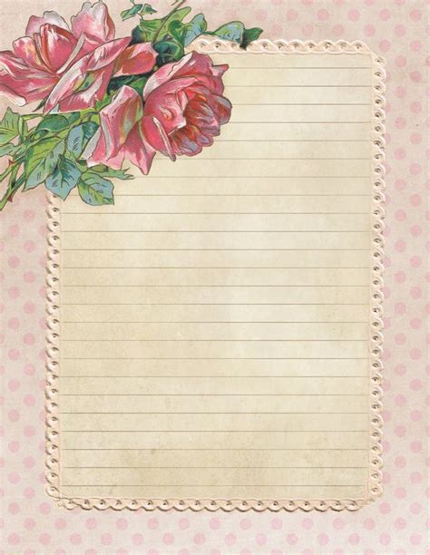free printable vintage journal pages best 25 vintage writing paper ideas on pinterest