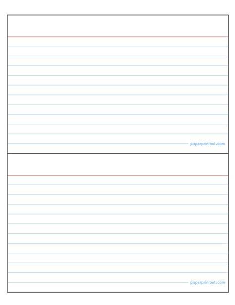 4x6 Note Card Template Docs by Card Index Card Template