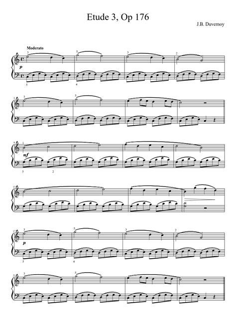 Buku Piano Duvernoy Op 176 jean baptiste duvernoy op 176 etude 3 piano sheet