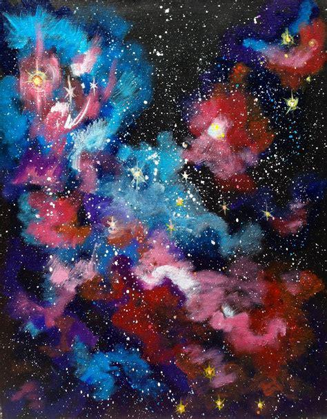 tutorial watercolor galaxy galaxy of dreams full acrylic painting tutorial on canvas