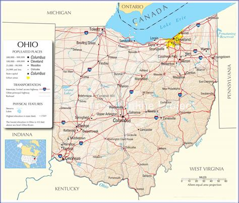state of ohio ohio state map ohio map ohio state road map map of ohio