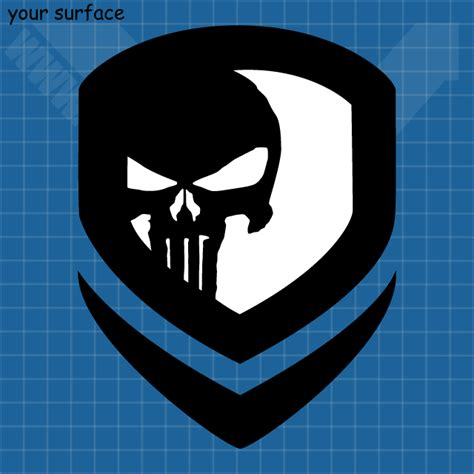 custom made punisher decals and paint stencils