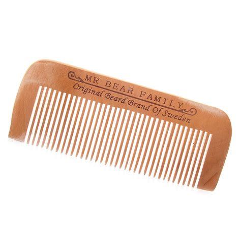 beard combs mr bear family peach wood beard comb