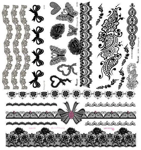black henna temporary tattoos canada 4pcs lot black henna lace stickers flower henna