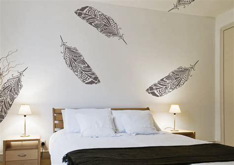 scandinavian wallpaper modern diy art designs feathers wall stencil decorative scandinavian large
