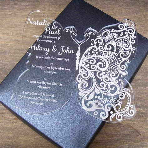 How To Make Acrylic Wedding Invitations