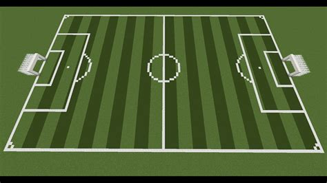 minecraft soccer field tutorial