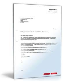 Schreiben Versicherung Muster Au 223 Erordentliche K 252 Ndigung Versicherung Vorlage Zum