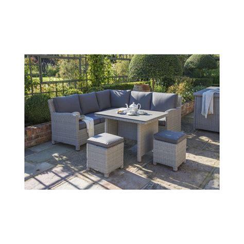 Kettler Palma Mini Corner Set Whitewash Garden Furniture